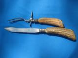 Winchester Carving Set Rare 1920's Knife & Fork - 7 of 8