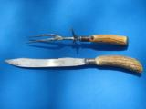Winchester Carving Set Rare 1920's Knife & Fork