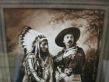 Buffalo Bill Cody & Sitting Bull Original Sepia Tone Photograph Montreal 1885 - 2 of 11