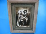 Buffalo Bill Cody & Sitting Bull Original Sepia Tone Photograph Montreal 1885