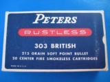 Peters Rustless 303 British Full Box 215 Grain SP- 1 of 9