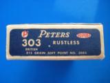 Peters Rustless 303 British Full Box 215 Grain SP- 3 of 9