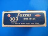 Peters Rustless 303 British Full Box 215 Grain SP- 2 of 9