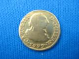 Spanish Gold 1/2 Escudo Coin dated 1779