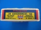 Winchester Super Speed 30 GOV'T 06 Full Box 180 gr. Exp.Pt. K Code - 3 of 9