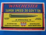 Winchester Super Speed 30 GOV'T 06 Full Box 180 gr. Exp.Pt. K Code - 2 of 9