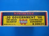 Winchester Silvertip 30 Gov't. 06 Bear Box Full Mint 180 gr. - 4 of 9
