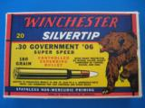 Winchester Silvertip 30 Gov't. 06 Bear Box Full Mint 180 gr.