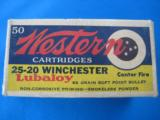 Western 25-20 Target Box Full 86 gr. Lubaloy SP - 1 of 10
