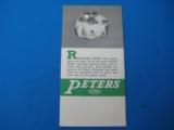 """RARE"" Peters Advertising Ammunition Foldout circa 1935 ""RARE"" - 3 of 7"