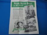 """RARE"" Peters Advertising Ammunition Foldout circa 1935 ""RARE"" - 5 of 7"