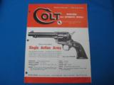 Colt Patent Firearms Co. Dealer Foldout 1957