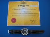Breitling Navitimer Chronometre D23322 w/Box & Paperwork 2003 SS 18K - 8 of 9