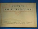 Stevens Rifle Telescopes Catalog circa 1920's - 3 of 12
