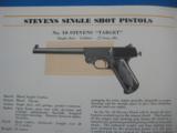 Stevens Shotgun Rifle & Pistol Catalog #58 circa 1933 Original Mint Condition - 8 of 9