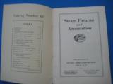 Savage Sporting Arms & Ammunition #63 Catalog circa 1929 - 2 of 14