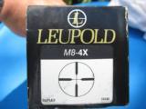 Leupold M8 4X Rifle Scope w/Stoney Point Elevation Knob Duplex Reticle w/Original Box - 2 of 7