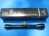 Leupold M8 4X Rifle Scope w/Stoney Point Elevation Knob Duplex Reticle w/Original Box - 1 of 7