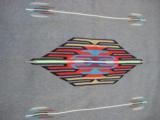 Mexican Saltillo Blanket Chimayo Design circa 1930's - 14 of 16