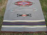 Mexican Saltillo Blanket Chimayo Design circa 1930's - 3 of 16