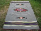 Mexican Saltillo Blanket Chimayo Design circa 1930's - 2 of 16