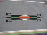 Mexican Saltillo Blanket Chimayo Design circa 1930's - 7 of 16