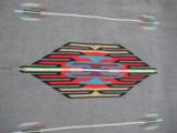 Mexican Saltillo Blanket Chimayo Design circa 1930's - 5 of 16
