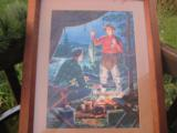 Sports Afield Original Cover Art Painting by Paul Adam Wehr circa 1940's