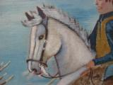 Harry G. Bentz Painting Oil on Board Montana Folk Art - 6 of 7