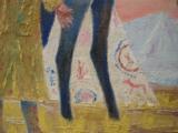 Harry G. Bentz Painting Oil on Board Montana Folk Art - 5 of 6