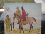 Harry G. Bentz Painting Oil on Board Montana Folk Art - 1 of 6