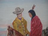 Harry G. Bentz Painting Oil on Board Montana Folk Art - 3 of 6