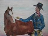 Harry G. Bentz Original Oil Painting Montana Folk Art - 3 of 8
