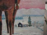 Harry G. Bentz Original Oil Painting Montana Folk Art - 6 of 8