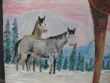 Harry G. Bentz Original Oil Painting Montana Folk Art - 5 of 8