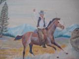 Harry G. Bentz Oil Painting Montana Folk Art - 2 of 9