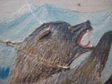 Harry G. Bentz Oil Painting Montana Folk Art - 9 of 9