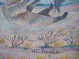 Harry G. Bentz Oil Painting Montana Folk Art - 6 of 9