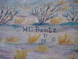 Harry G. Bentz Oil Painting Montana Folk Art - 7 of 9