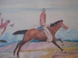Harry G. Bentz Oil Painting Montana Folk Art - 5 of 9