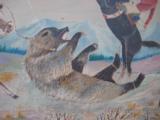 Harry G. Bentz Oil Painting Montana Folk Art - 3 of 9