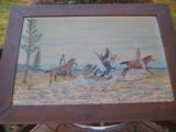 Harry G. Bentz Oil Painting Montana Folk Art - 1 of 9