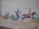 Harry G. Bentz Oil Painting Montana Folk Art - 8 of 9