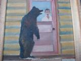 Harry G. Bentz Oil Painting Montana Folk Art - 4 of 5
