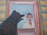 Harry G. Bentz Oil Painting Montana Folk Art - 2 of 5