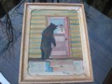 Harry G. Bentz Oil Painting Montana Folk Art - 1 of 5