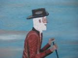 Harry G. Bentz Oil Painting Montana Folk Art - 3 of 6
