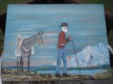 Harry G. Bentz Oil Painting Montana Folk Art - 1 of 6