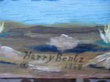 Harry G. Bentz Oil Painting Montana Folk Art - 5 of 6