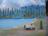 Harry G. Bentz Oil Painting Montana Folk Art - 4 of 6